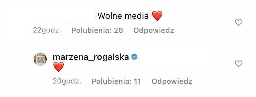 Komentarz Marzeny Rogalskiej