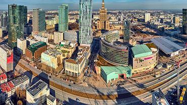 Panorama Warszawy z lutego 2019.