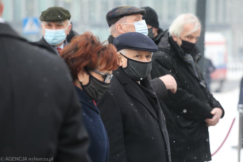 130 . miesięcznica smoleńska w Warszawie, 10.02.2021.