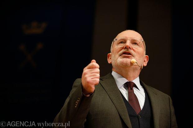 Frans Timmermans: Polacy bardziej ufają UE niż własnemu rządowi