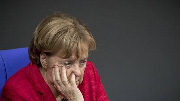 Kanclerz Merkel w Bundestagu 21 listopada, dzień po zerwaniu rozmów koalicyjnych
