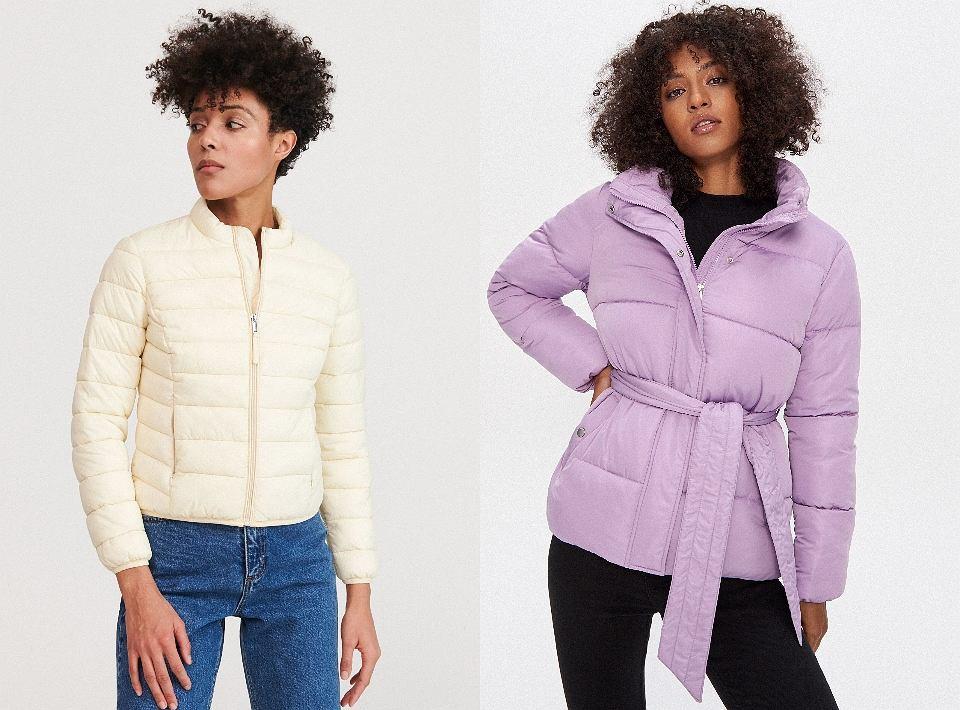 Pikowane kurtki w pastelowych kolorach