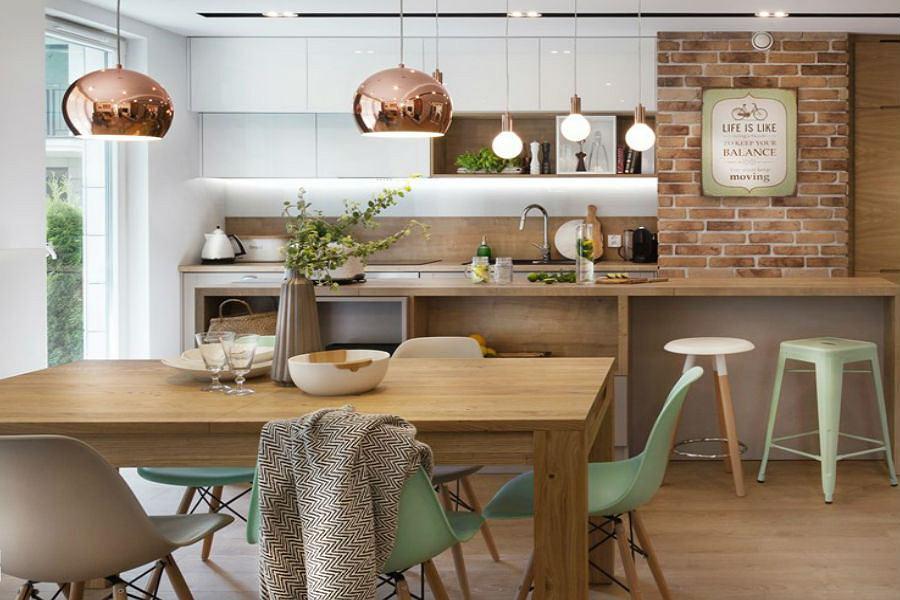 Przytulna kuchnia - kolory i materiały