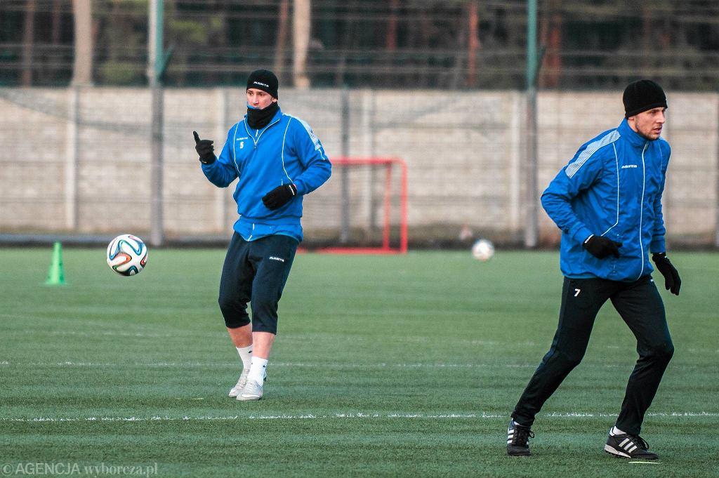 Martin Fenin (z lewej) na treningu Zawiszy