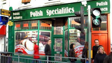 Polski sklep w Londynie.