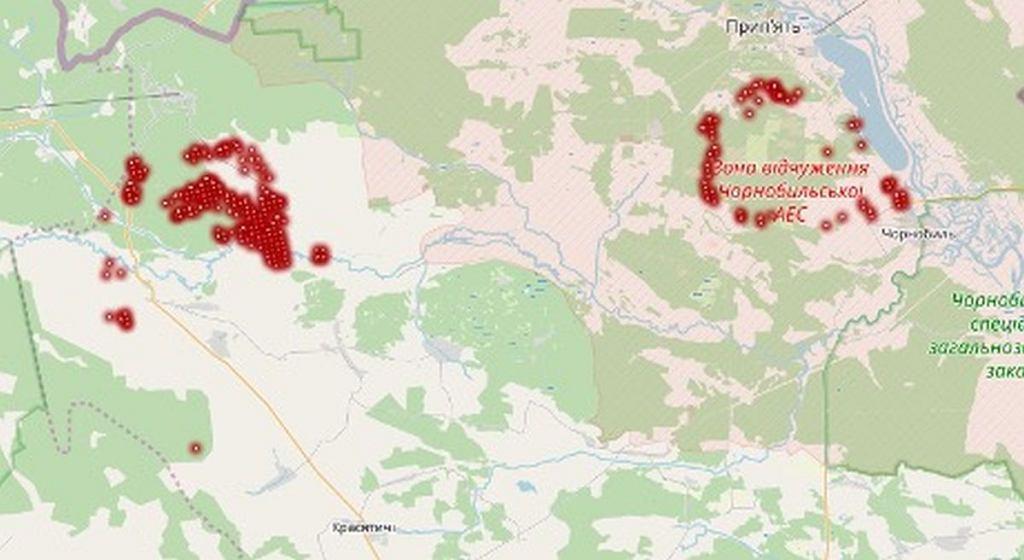 Pożary w czarnobylskiej strefie - 11 kwietnia