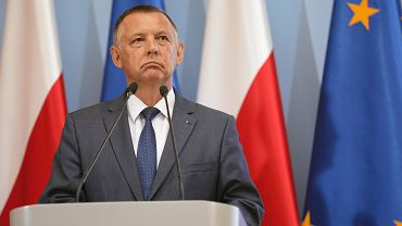 Ówczesny minister finansów w rządzie PiS Marian Banaś podczas prezentacji projektu budżetu na rok 2020. Warszawa, 27 sierpnia 2019