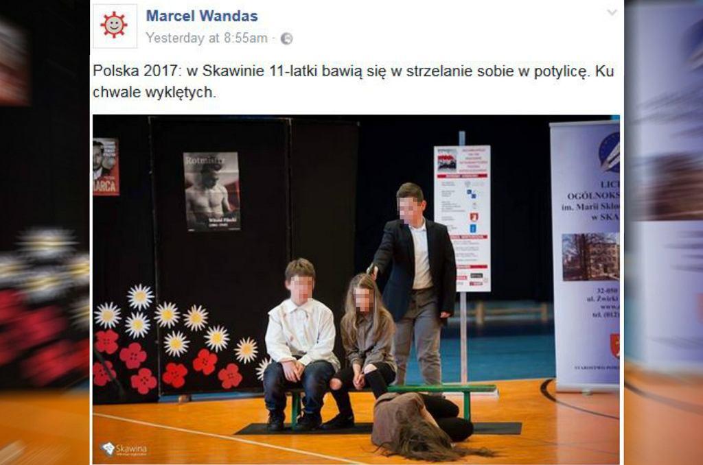 Egzekucja na przedstawieniu w szkole podstawowej