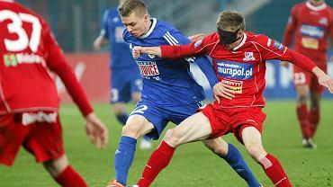 Piotr Malinowski w meczu Piast Gliwice - Podbeskidzie Bielsko-Biała (1:2)