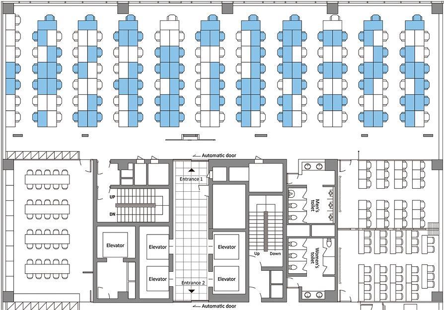 Plan 11. piętra biurowca w Seulu