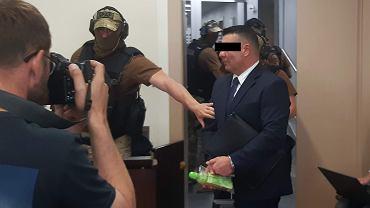 7 czerwca 2016 r. Gangster 'Baryła' podczas rozprawy w procesie Aleksandra Gawronika