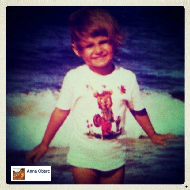 Anna Oberc w dzieciństwie