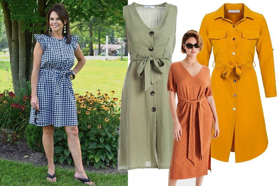 Sukienki na lato dla dojrzałych - szmizjerki
