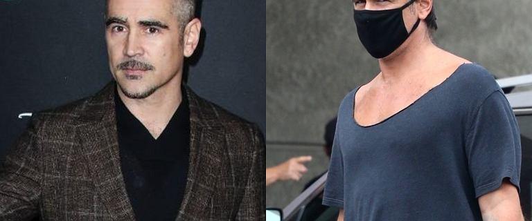 Colin Farrell w maseczce ochronnej wybrał się na zakupy