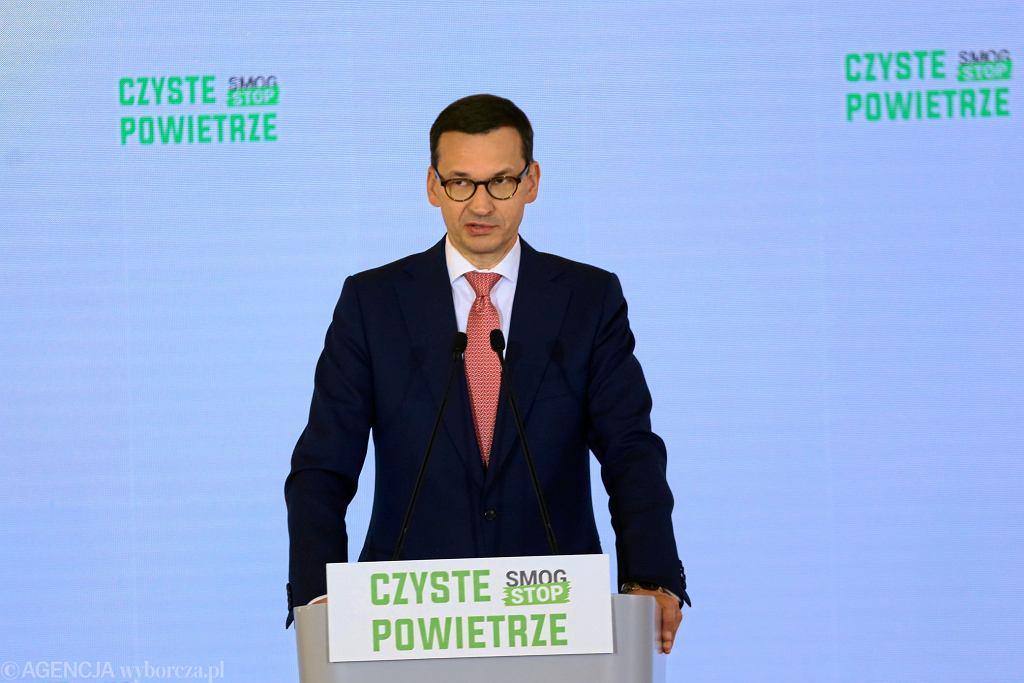 Wybory samorządowe 2018. Podczas wizyty w województwie łódzkim premier Mateusz Morawiecki opowie o programie 'Czyste Powietrze'