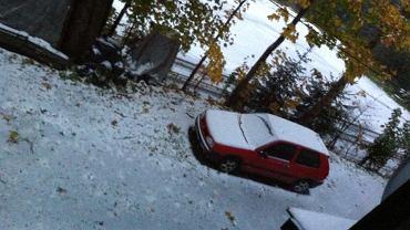 Pierwszy śnieg w Szczyrku-Salmopolu