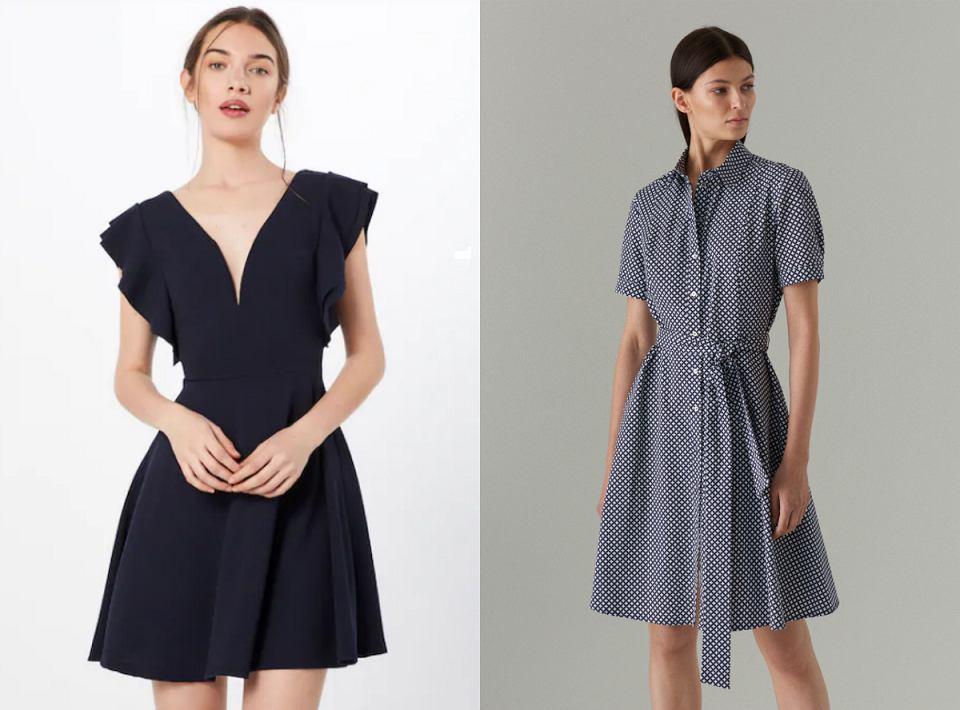 Granatowe sukienki na każdą okazję