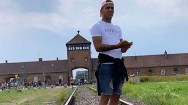 Rodrigo Zalazar opublikował zdjęcie w Auschwitz. Świętował tam urodziny