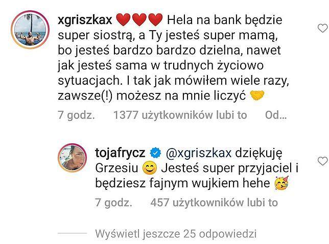 Były partner Olgi Frycz zareagował na jej ciążę