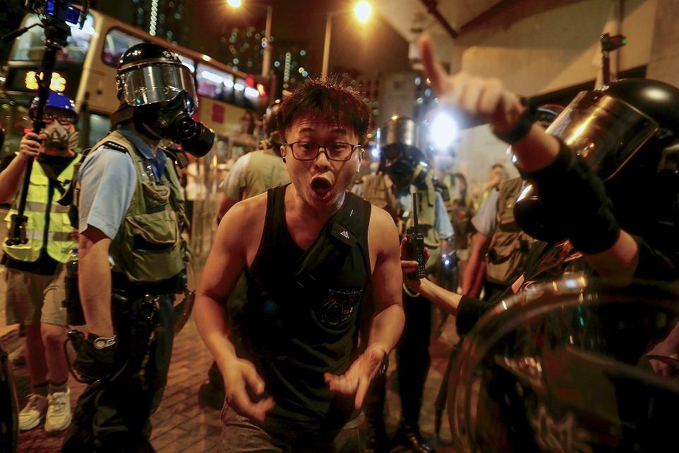 Weekendowe protesty rozpoczną się w piątek wieczorem na placu w dzielnicy finansowej Hongkongu. To zdjęcie powstało 14 sierpnia 2019 r.