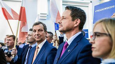Andrzej Halicki i Rafał Trzaskowski na konwencji Platformy Obywatelskiej