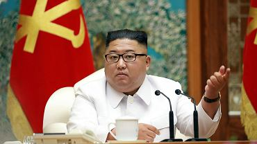 Przywódca Korei Północnej Kim Dzong-Un na specjalnym zebraniu Politbiura, 25.07.2020