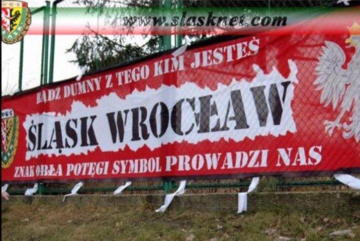 Flaga kiboli Śląska Wrocław