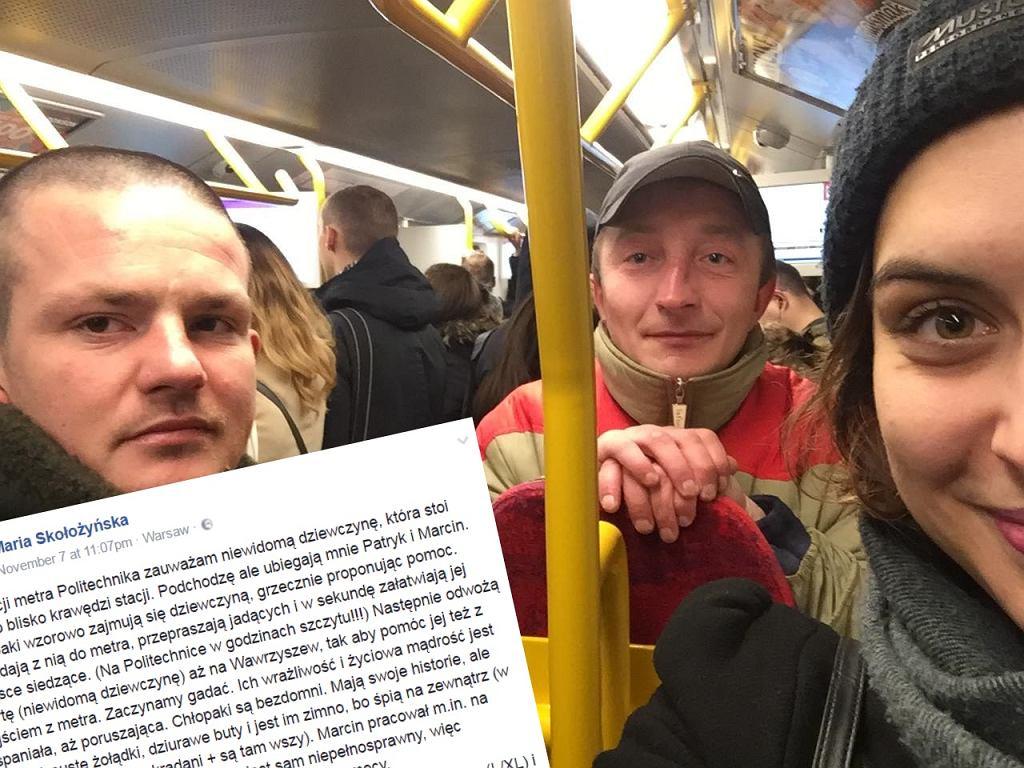 Bezdomni pomogli niewidomej w metrze