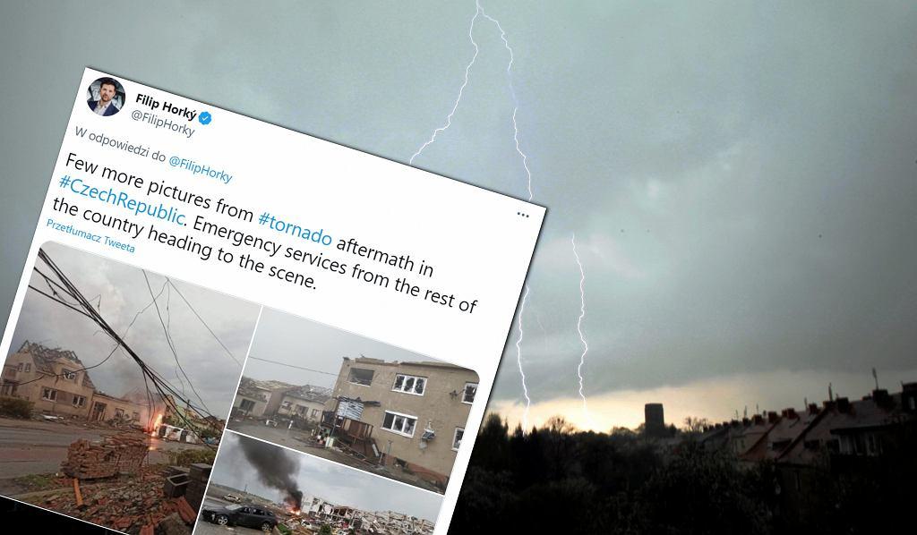 Tornado w Czechach / zdjęcie ilustracyjne