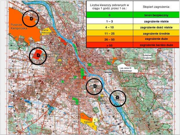 Warszawska Mapa Kleszczy