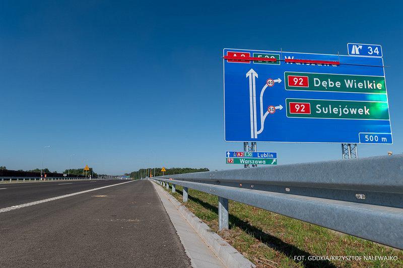 Autostrada A2, odcinek węzeł Lubelska - początek obwodnicy obwodnicy Mińska Mazowieckiego