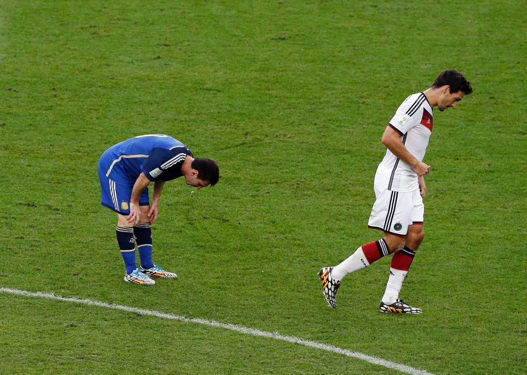 Lionel Messi miał odruchy wymiotne podczas finału mistrzostw świata