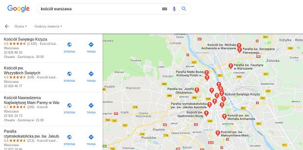 Symbolika religijna na mapach Google