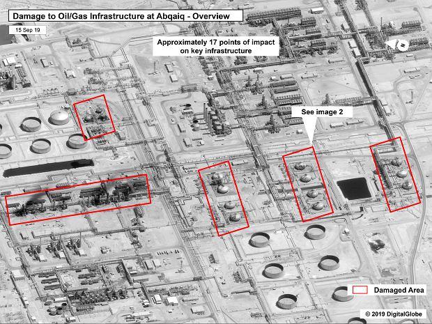 Ujęcie ogólne zaatakowanej rafinerii