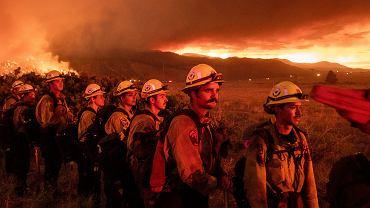Pożary lasów w Kalifornii.