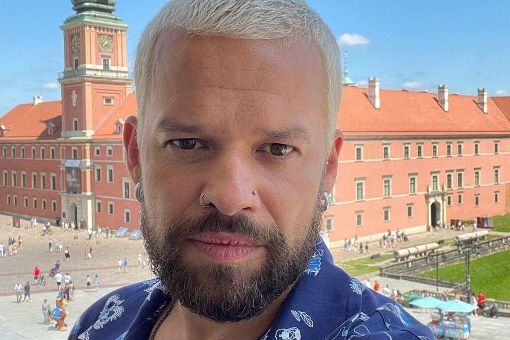 Michał Piróg w nowym kolorze włosów