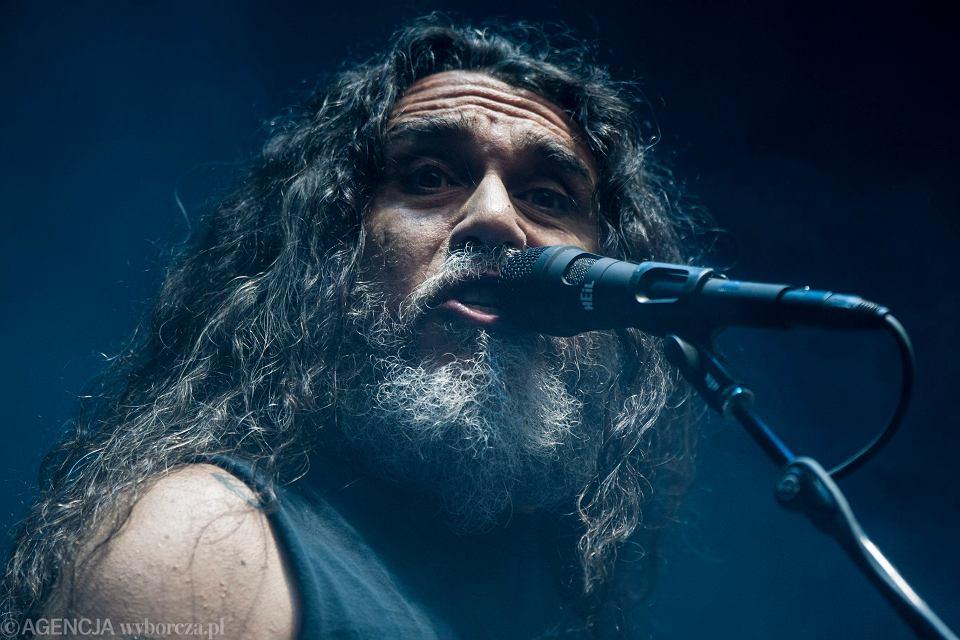 Koncert zespołu Slayer. Poznań, 24 czerwca 2014. Tom Araya