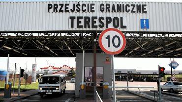 Terespol, przejście graniczne Polska-Białoruś.
