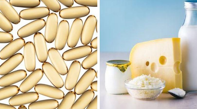 Źródłem witaminy D są m.in.: mleko i jajka.