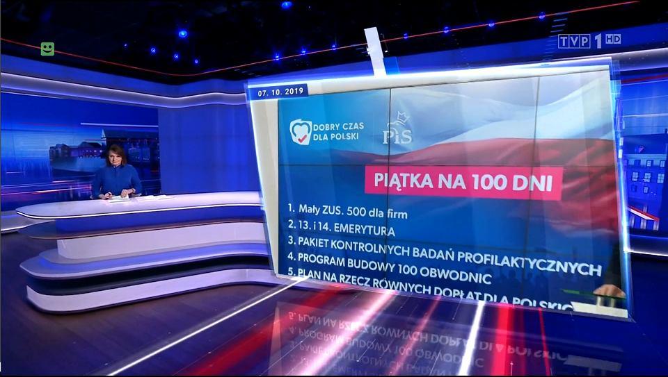Program informacyjny TVP Wiadomości, emisja 07.10.2019, 19:30