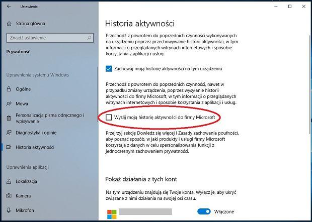 Windows 10 zbiera dane o aktywności