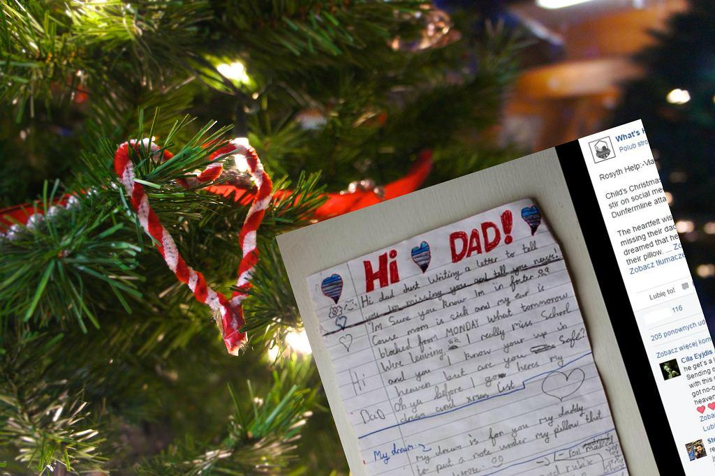 Poruszający list wysłany do zmarłego ojca