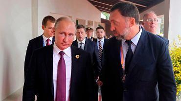 Prezydent Rosji Władmir Putin i Oleg Deripaska