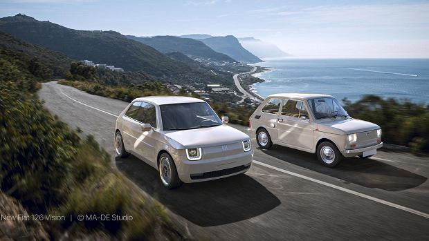Fiat 126 Vision i stary 'maluch'