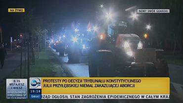 Rolnicy przyłączyli się do protestujących kobiet  (TVN24)