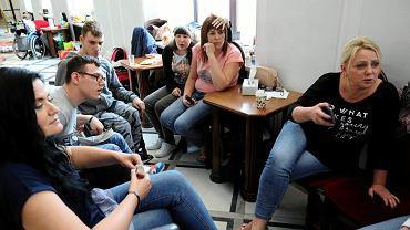 Sejm, dziewiąty dzień protestu rodziców dorosłych dzieci niepełnosprawnych, 26 kwietnia 2018.