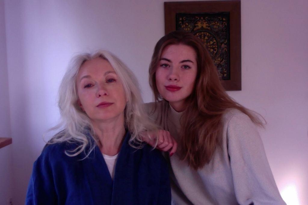 Manuela Gretkowska z córką - Polą Pietuchą
