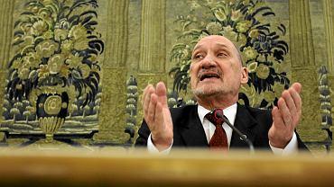 Antoni Macierewicz, 30 Posiedzenie Sejmu VII Kadencji