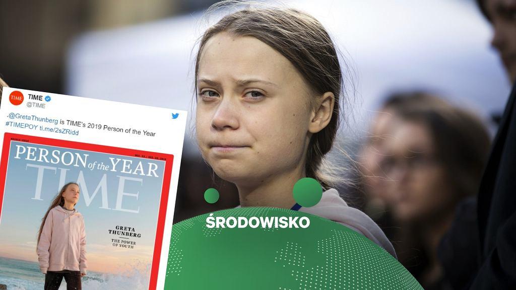 Greta Thunberg na okładce 'Time' z tytułem 'Człowieka Roku'