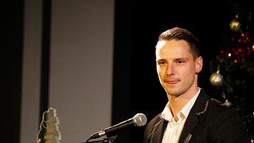 Grzegorz Goncerz podczas gali Złote Buki 2014
